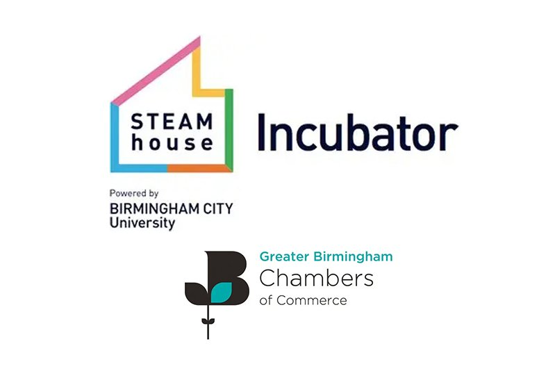 STEAMhouse Incubator and Greater Birmingham Chambers of Commerce logos