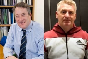 Photos of Professor Chris Edger, Birmingham City University and Dean Smith, Manager, AVFC