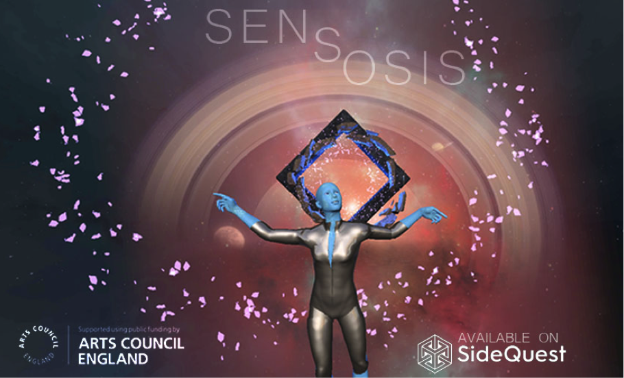 Photo of 3D generated image and Senosis logo