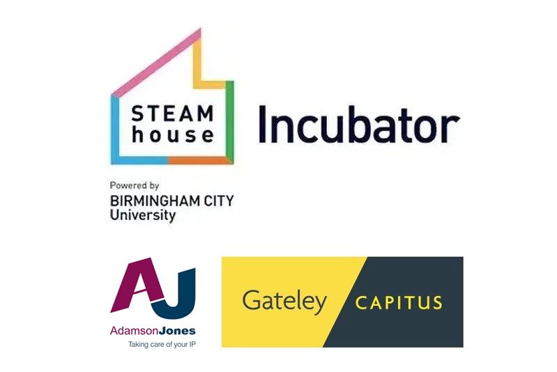 Adamson Jones, Gateley Capitus and STEAMhouse Incubator Logos